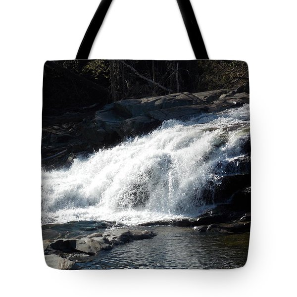 Glacial Potholes Falls Tote Bag by Catherine Gagne