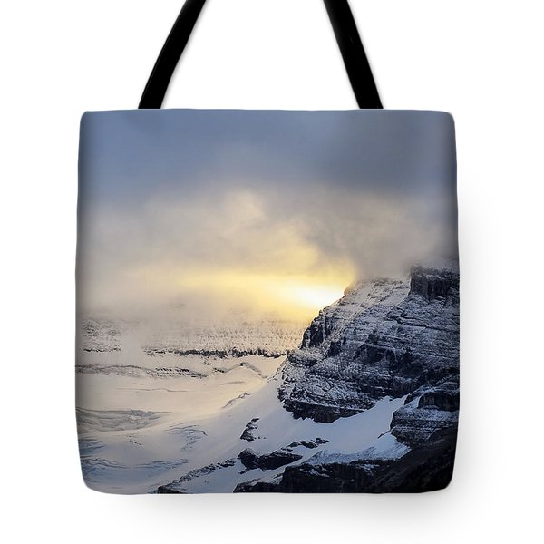 Glacier Above Lake Louise Alberta Canada Tote Bag