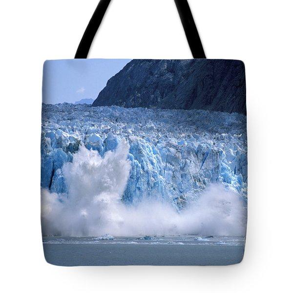 Glacier Calving Tote Bag