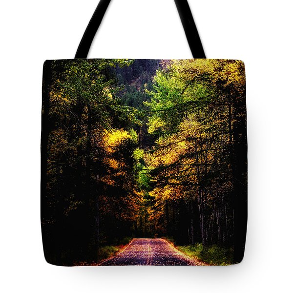 Glacier Fall Road Tote Bag