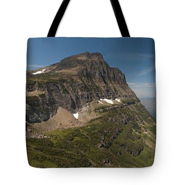 Glacier National Park Panorama Tote Bag