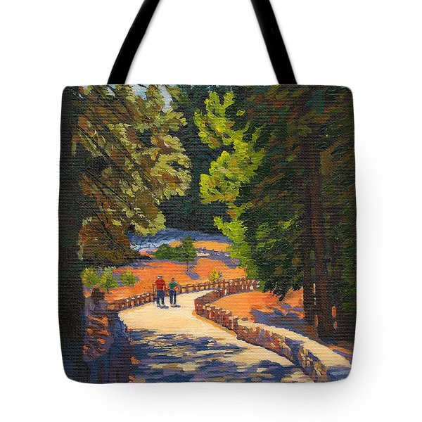 Glacier Point Walk Tote Bag by Alice Leggett