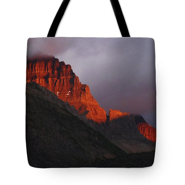 Tote Bag featuring the photograph Glacier Sunrise by Alan Socolik