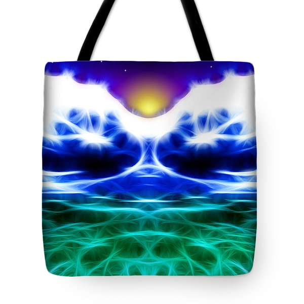 Glacier Sunset Tote Bag by Stephen Younts