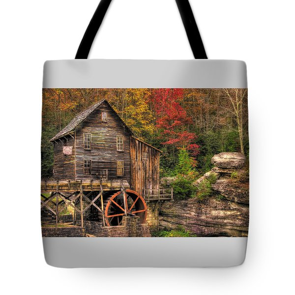 Glade Creek Grist Mill-1a Babcock State Park Wv Autumn Late Afternoon Tote Bag