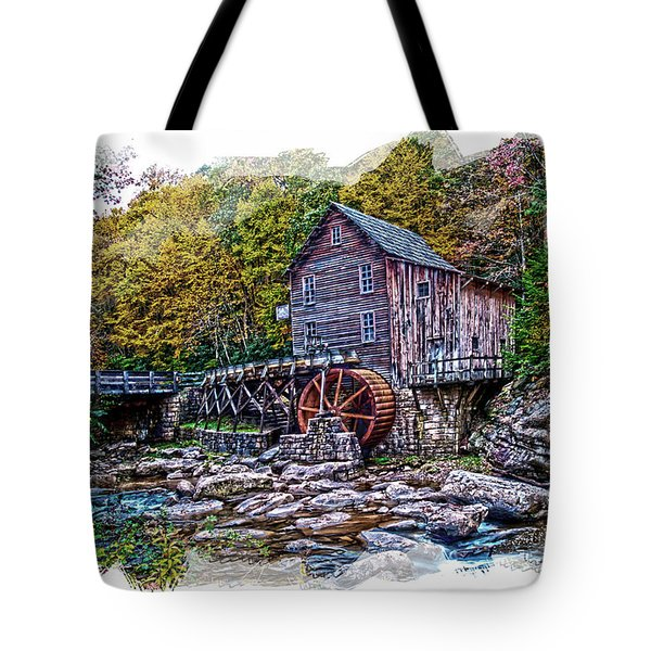 Glade Creek Grist Mill Tote Bag by Randall Branham
