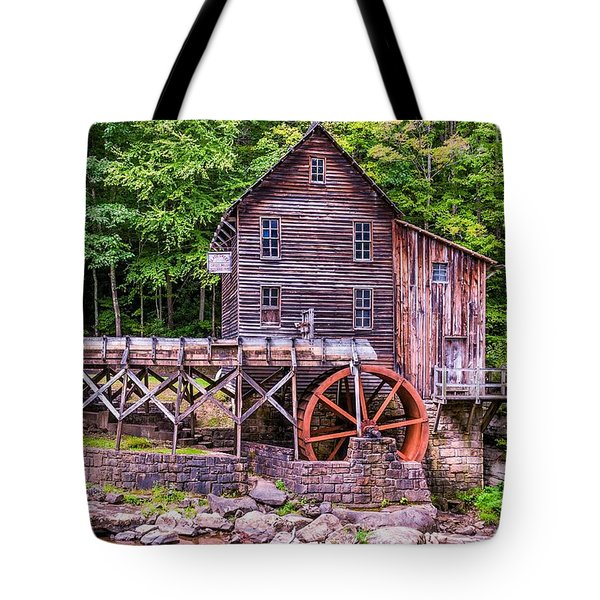 Glade Creek Grist Mill Tote Bag by Steve Harrington