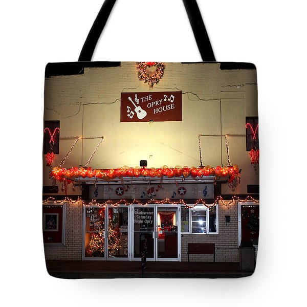 Gladewater Opry House Tote Bag by Kathy  White