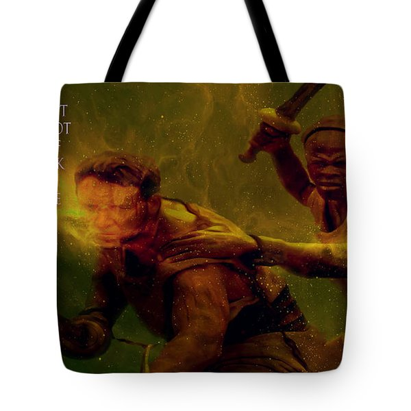 Tote Bag featuring the photograph Gladiator  by Brian Reaves