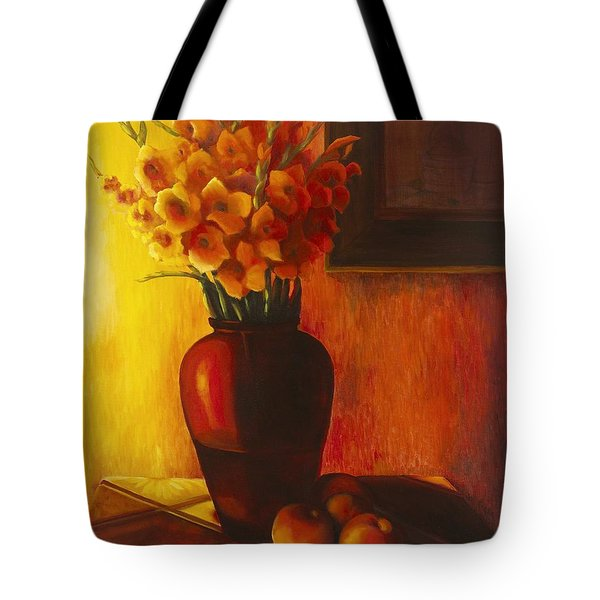 Gladioli Red Tote Bag