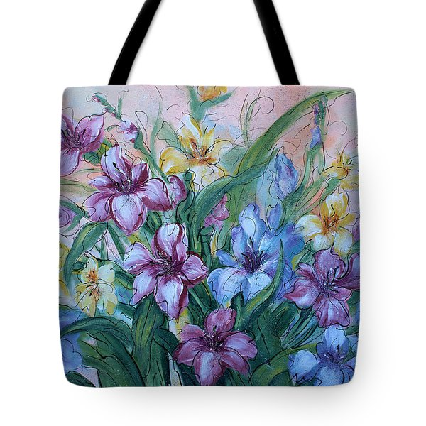 Gladiolus Tote Bag by Natalie Holland