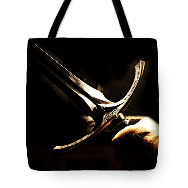 Glamdring - Foe Hammer Tote Bag by Christopher Gaston