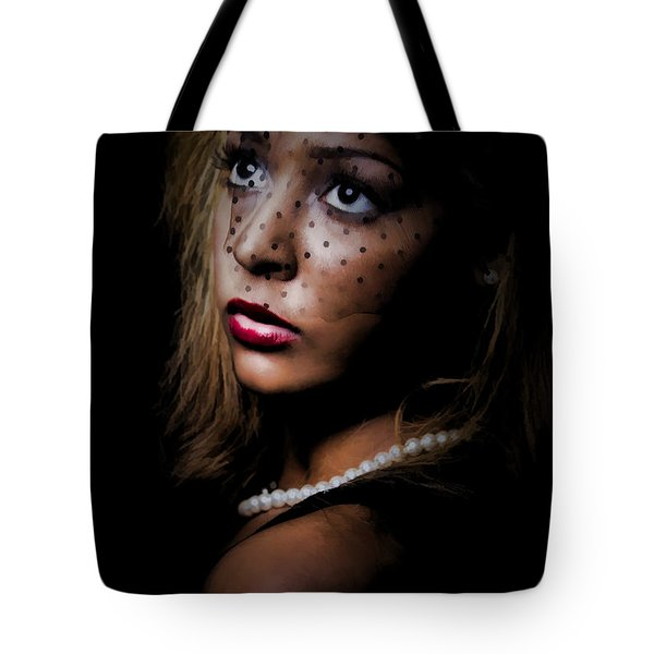 Tote Bag featuring the painting Glamour by Linda Blair