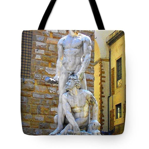 Glance At Hercules And Casus Tote Bag