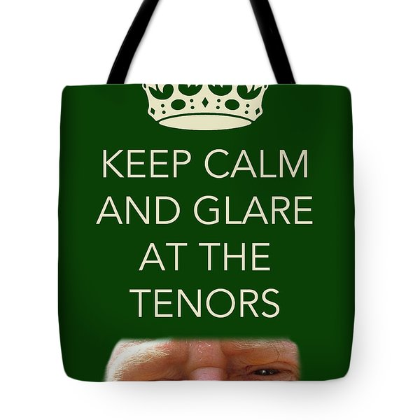 Glare At The Tenors Tote Bag