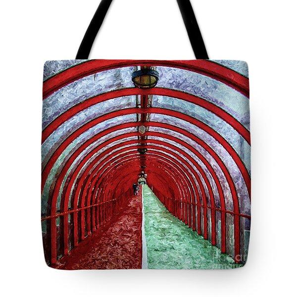 Glasgow Arcs Painting Tote Bag by Antony McAulay