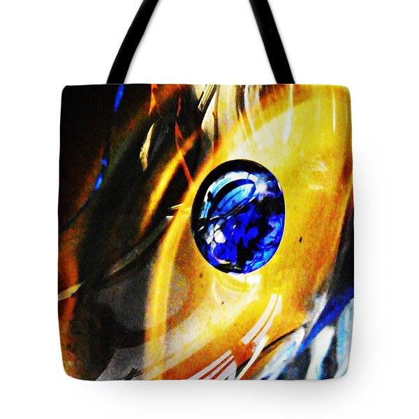 Glass Abstract 281 Tote Bag by Sarah Loft