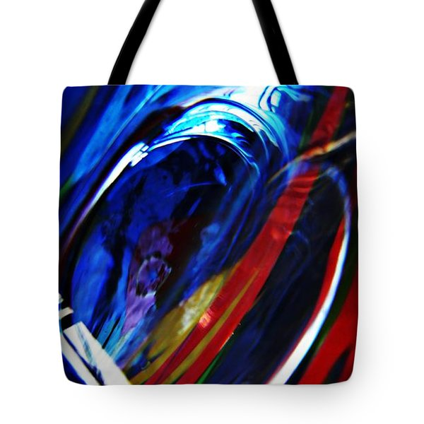Glass Abstract 293 Tote Bag by Sarah Loft