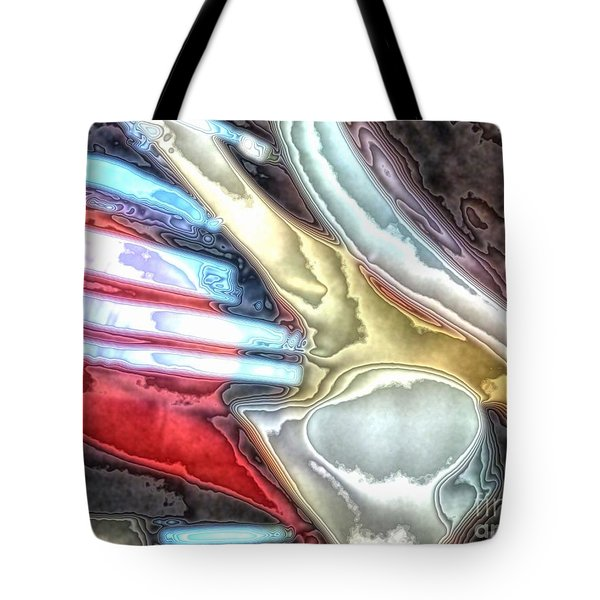 Glass Abstract 7 Tote Bag by Newel Hunter