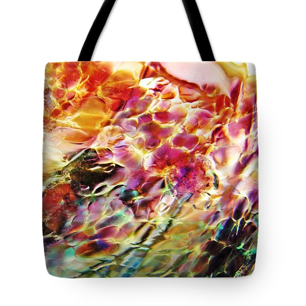Glass Abstract 753 Tote Bag by Sarah Loft