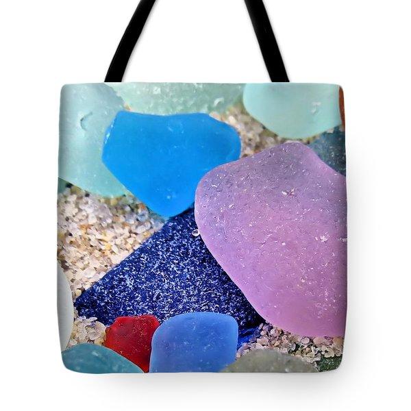 Glass And Sand Tote Bag