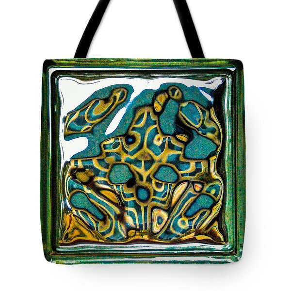 Tote Bag featuring the photograph Glass Block Abstract 3 by Dee Dee  Whittle