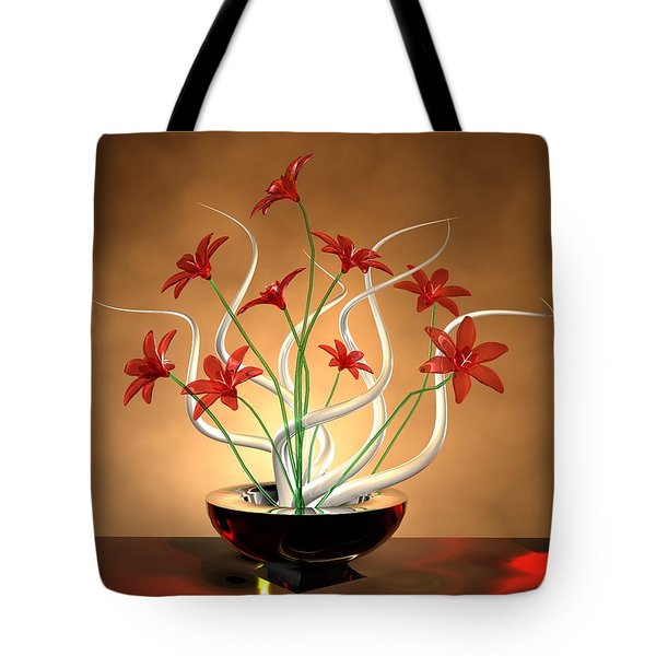 Glass Flowers Tote Bag by Louis Ferreira