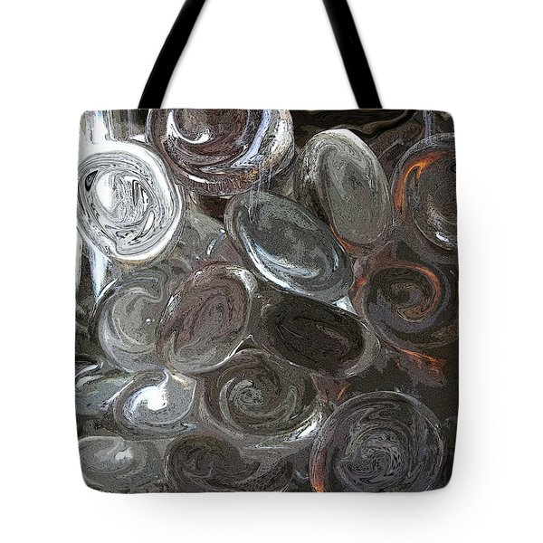 Tote Bag featuring the digital art Glass In Glass 2 by Mary Bedy