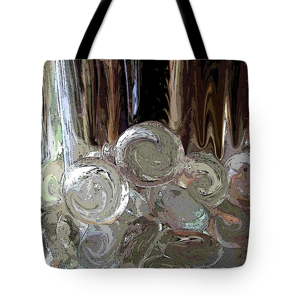Tote Bag featuring the digital art Glass In Glass by Mary Bedy