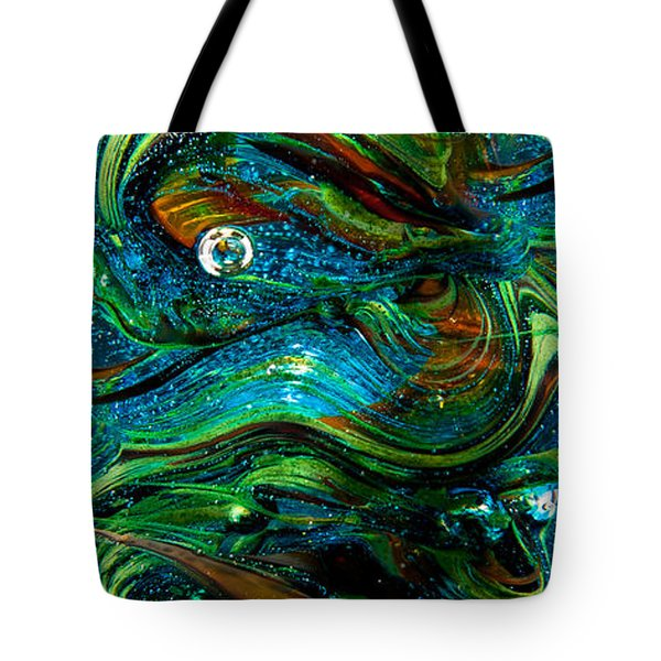 Glass Macro Abstract 13e7 Tote Bag by David Patterson