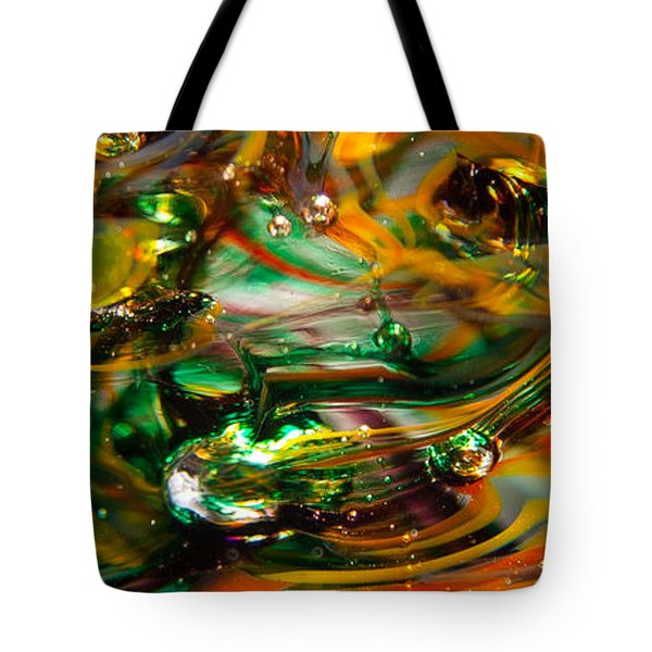 Glass Macro Abstract Ego1 Tote Bag by David Patterson