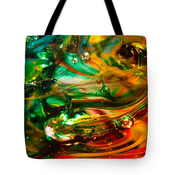 Glass Macro Abstract Ego1ce Tote Bag by David Patterson