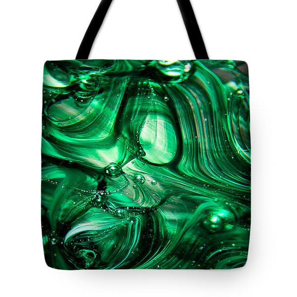 Glass Macro Abstract Egw Tote Bag by David Patterson