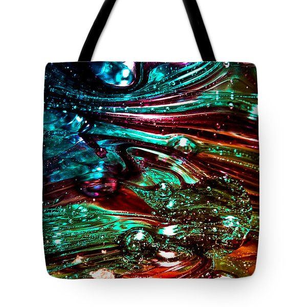 Glass Macro Abstract Rb3ce Tote Bag by David Patterson