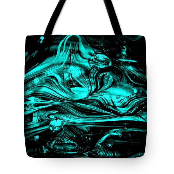 Glass Macro Abstract Rbwce2 Tote Bag by David Patterson