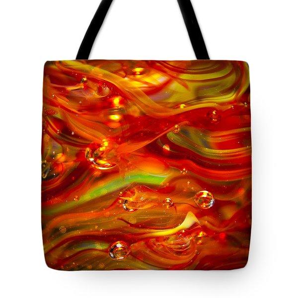 Glass Macro Abstract Rf1 Tote Bag by David Patterson