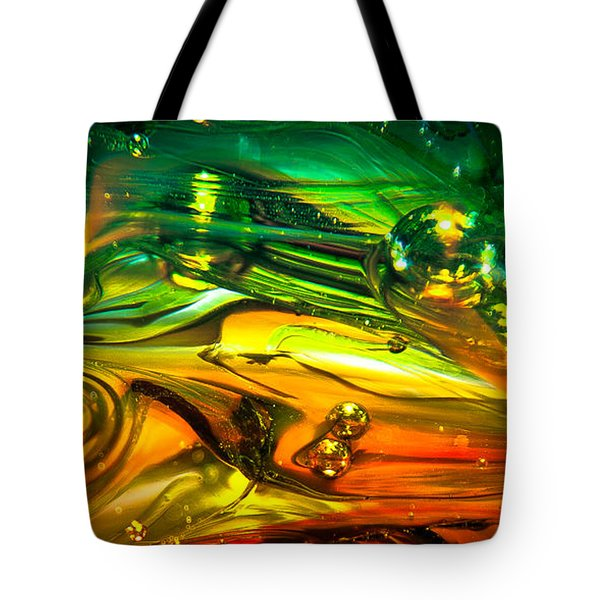 Glass Macro Abstract Rgo1ce2 Tote Bag by David Patterson