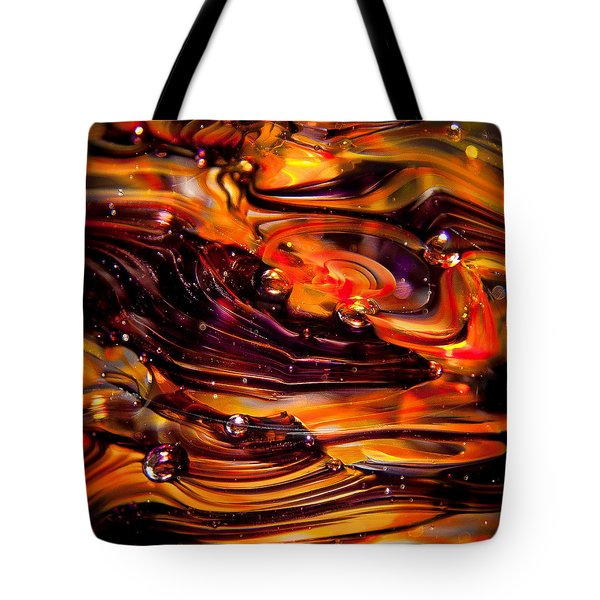 Glass Macro Abstract Rpo Tote Bag by David Patterson