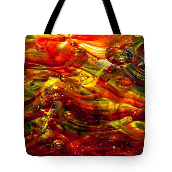 Glass Macro - Burning Embers Tote Bag by David Patterson