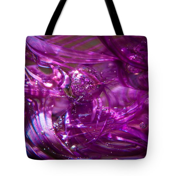 Glass Macro - Deep Pinks IIi Tote Bag by David Patterson