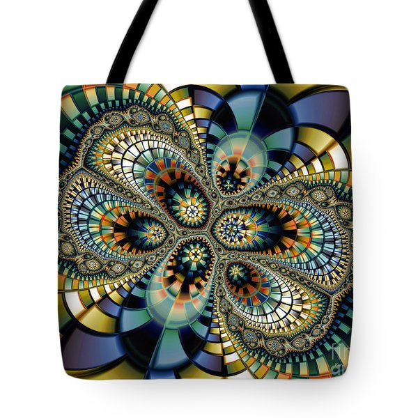 Glass Mosaic-geometric Abstraction Tote Bag by Karin Kuhlmann