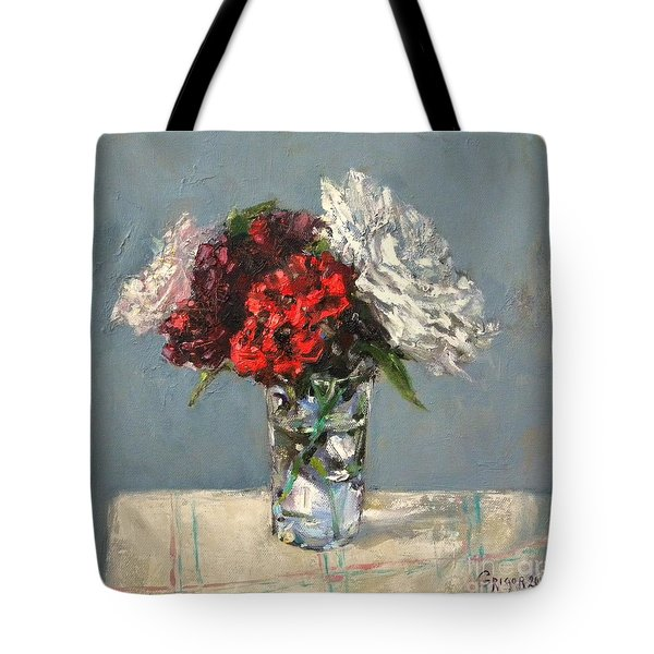 Glass Of Flowers Tote Bag