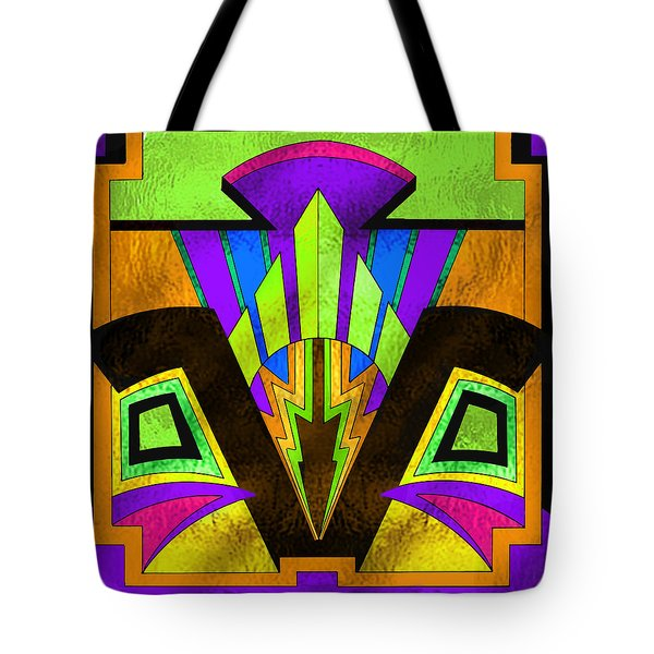 Glass Pattern 5 B Tote Bag by Chuck Staley