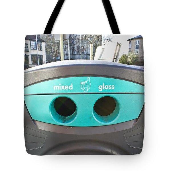 Glass Recycling Tote Bag