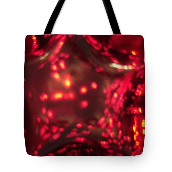 Glass Red And Orange Star Tote Bag