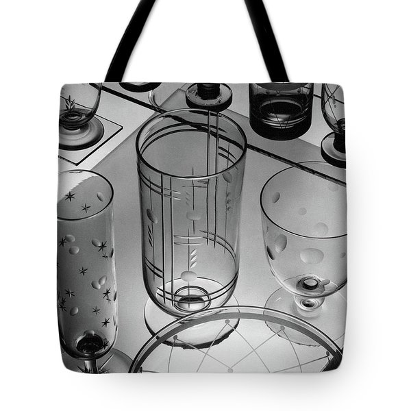 Glasses And Crystal Vases By Walter D Teague Tote Bag