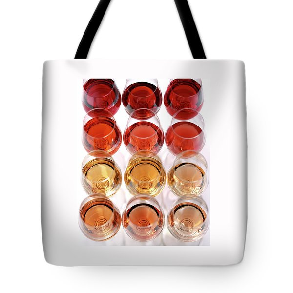 Glasses Of Rose Wine Tote Bag