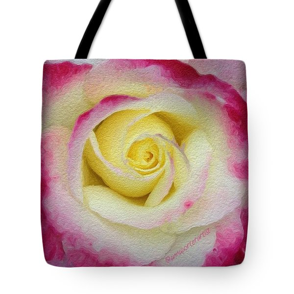 Glazed Red-tipped Rose Tote Bag