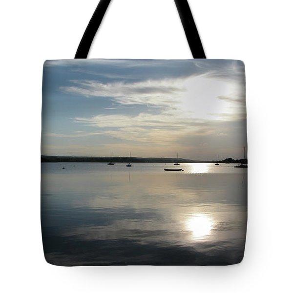 Glenmore Reservoir Calm Tote Bag by Stuart Turnbull
