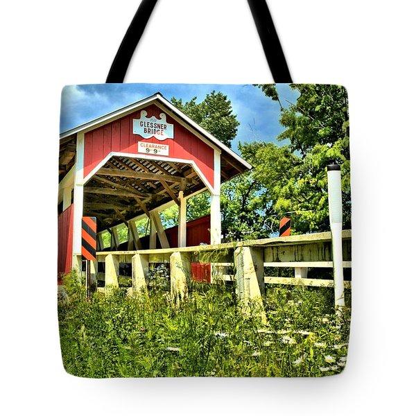 Glessner Wooden Bridge Tote Bag